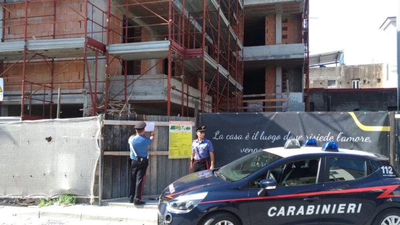 Poggiomarino: controlli dei carabinieri sui cantieri, 3 persone denunciate