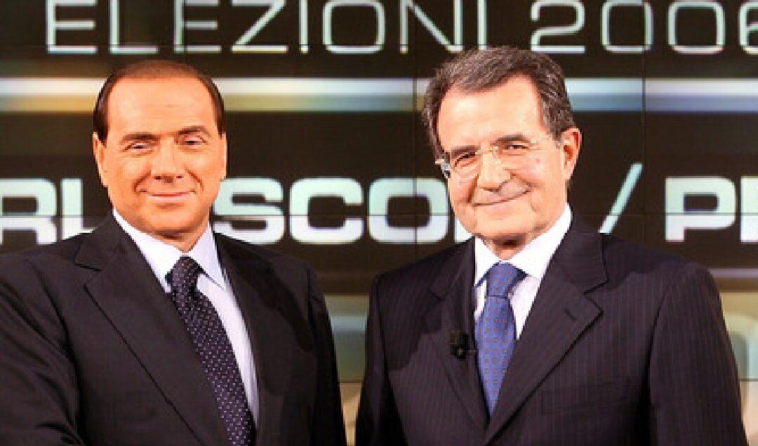 Silvio Berlusconi e Romano Prodi nel 2006