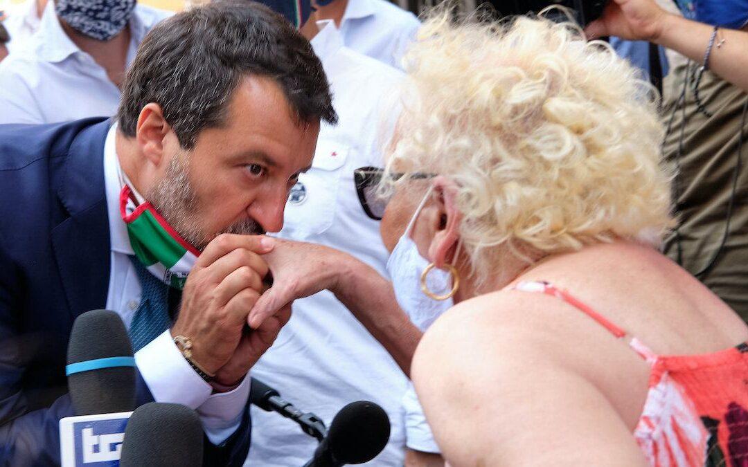 Matteo Salvini dopo  dopo il voto sull'autorizzazione a procedere nei suoi confronti