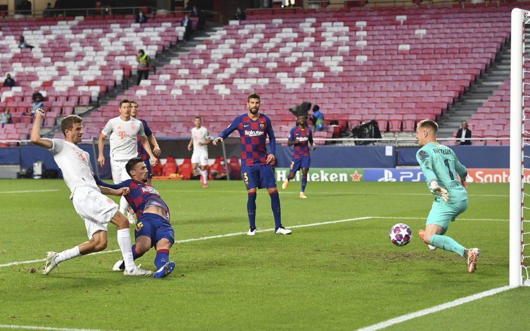 Barcellona umiliato 8-2, Bayern in semifinale di Champions