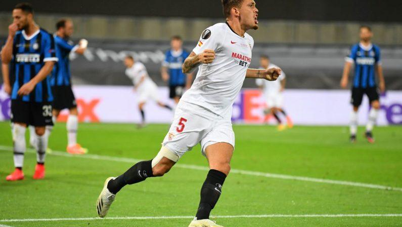 Delusione Inter, il Siviglia vince l'Europa League, nerazzurri battuti 3-2