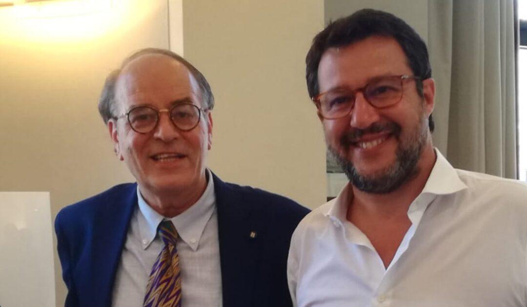 Antonino Minicuci e Matteo Salvini