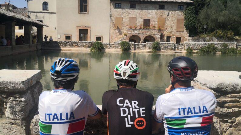 In bici da Torino a Caserta per promuovere la Reggia di Carditiello