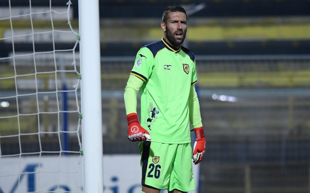Il neo portiere giallorosso Paolo Branduani