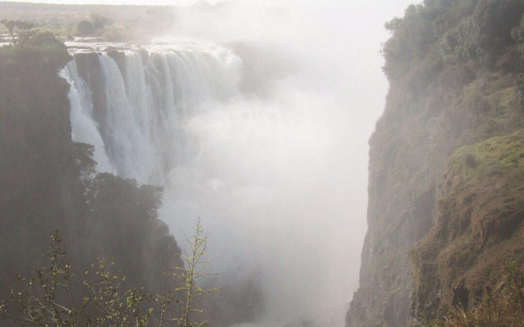 Uno scorcio delle cascate Victoria