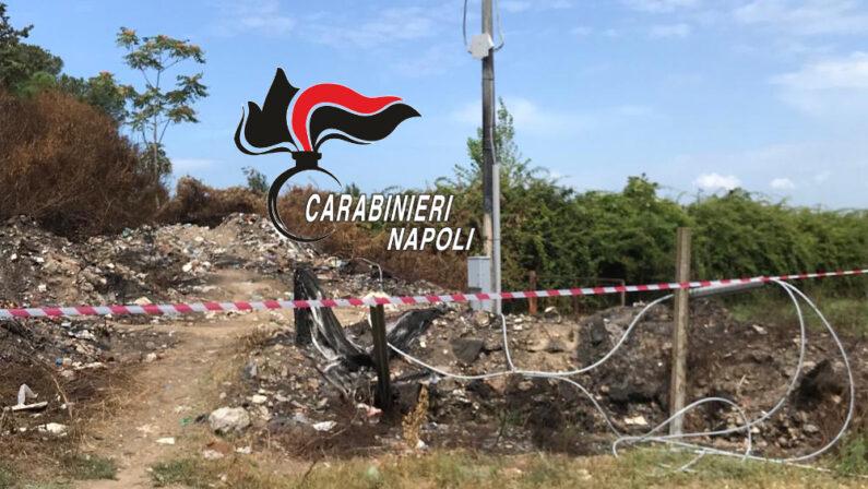 Giugliano, smaltimento illecito di rifiuti, 2 persone denunciate e area di 1000 metri quadrati sequestrata