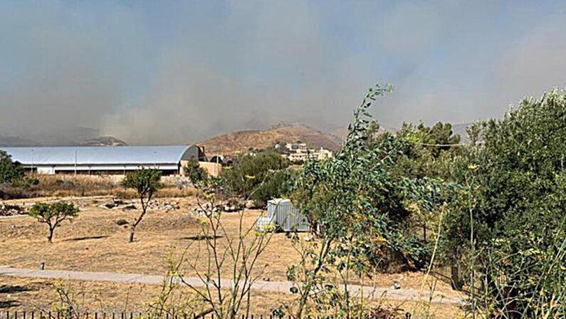 Paura nel Reggino, un incendio minaccia l'abitato di Lazzaro. Evacuate alcune abitazioni