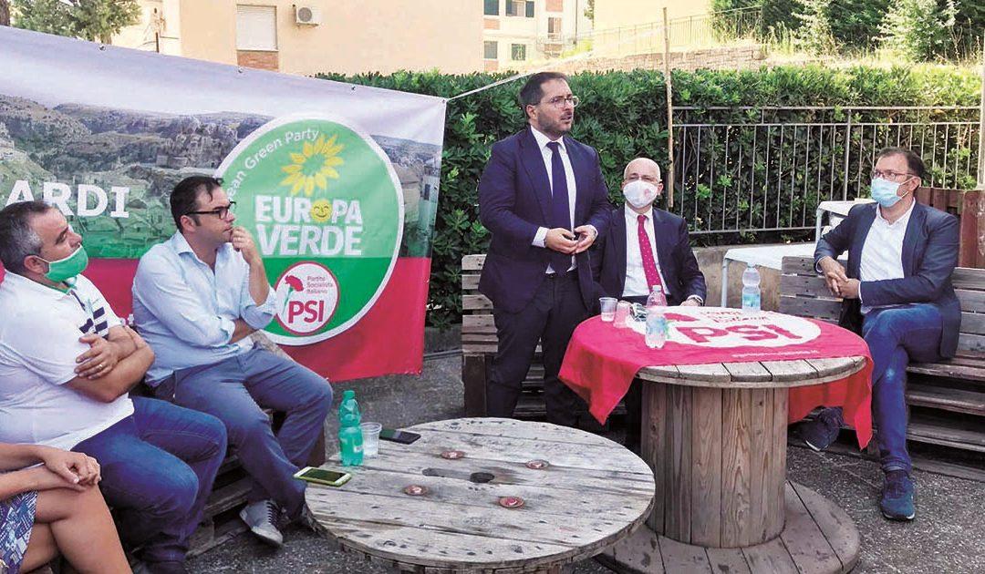 La visita del segretario nazionale del Psi Maraio a Matera e l'incontro con il candidato sindaco Domenico Bennardi di M5S