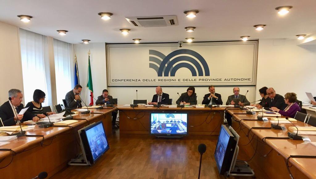 La sala riunioni della Conferenza delle Regioni