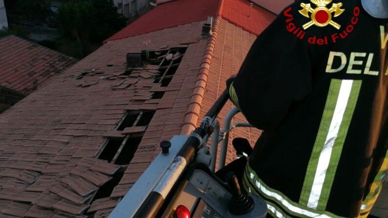 Tromba d'aria si abbatte sul Cosentino, danni ingenti e molti interventi dei vigili del fuoco