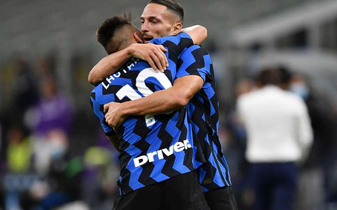 Show a San Siro, l'Inter batte la Fiorentina 4-3