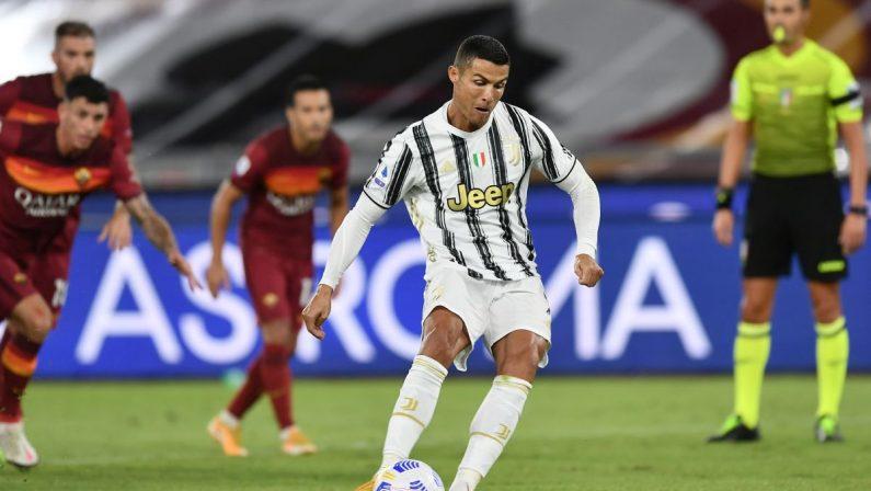 Roma-Juve 2-2, doppiette di Veretout e CR7