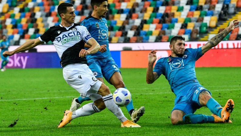 Doppietta di Galabinov, Spezia vince 2-0 in casa dell'Udinese