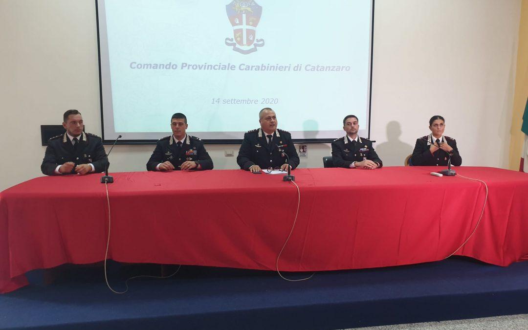 La presentazione dei nuovi ufficiali. Da sinistra: Cipriano, Bruscià, Montanaro, Molinari e Basilicata