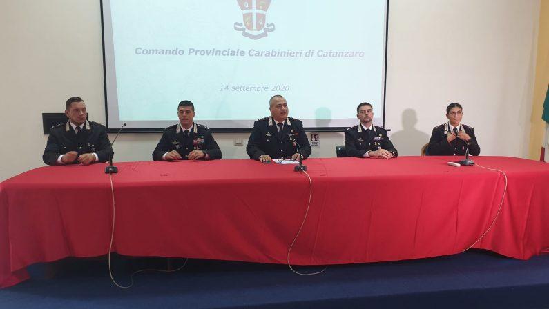 Carabinieri, il nuovo volto in provincia di Catanzaro: arrivati 4 ufficiali