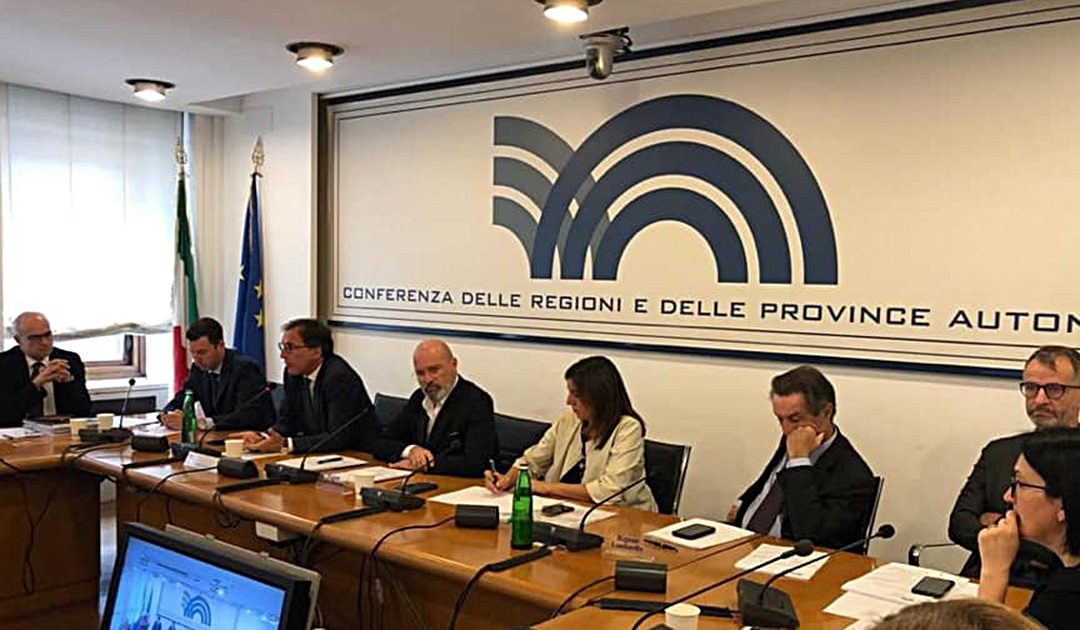 Una seduta della Conferenza Stato Regioni