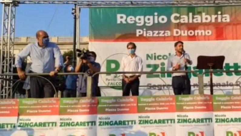 Elezioni comunali a Reggio, Zingaretti premia il lavoro di Falcomatà: «Ha salvato la città»