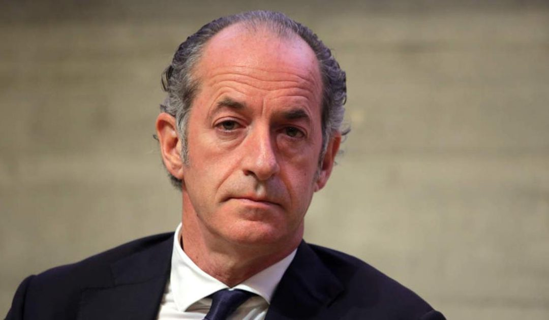 Il presidente della Regione Veneto Luca Zaia