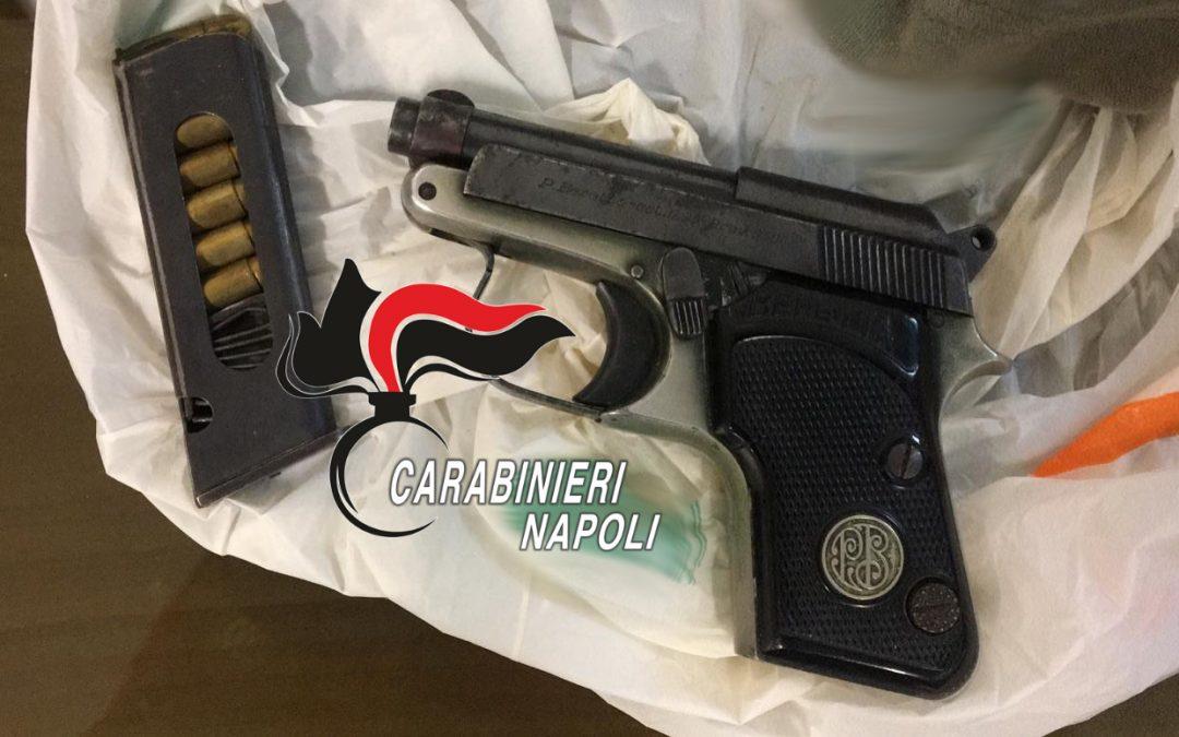Monteruscello: una pistola pronta a sparare in un sottoscala. Sequestro dei Carabinieri