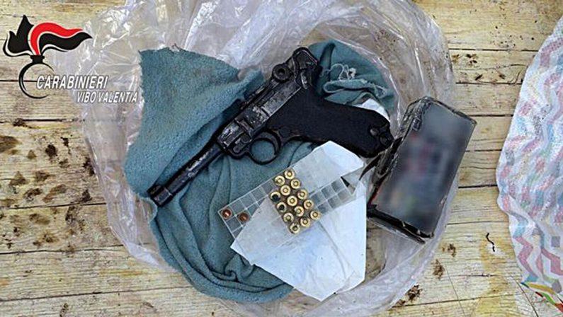 Trovata una Pistola p38 nascosta in un casolare nel Vibonese, un arresto