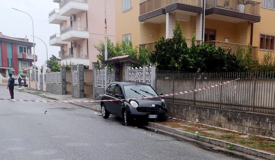 L'auto coinvolta nella sparatoria