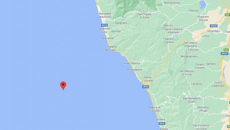 Registrato un terremoto al largo di Cetraro nel Cosentino