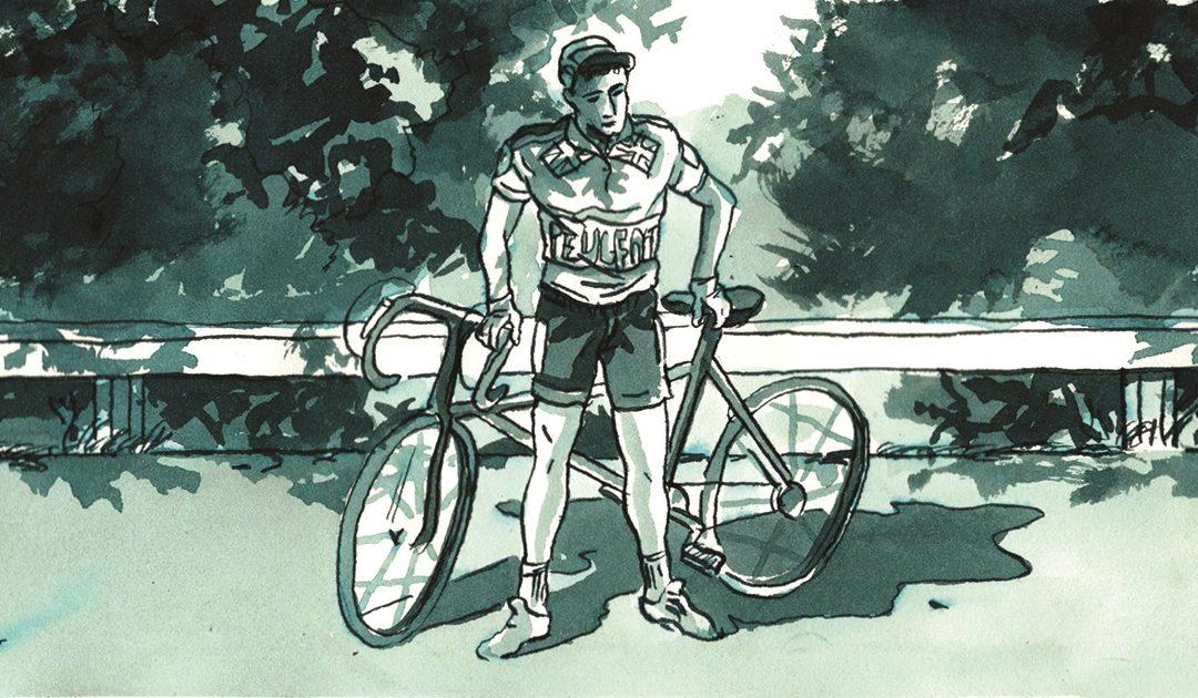 Thomas Tom Simpson Illustrazione di Roberto Melis