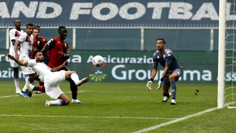 Calcio, amaro ritorno in serie A per il Crotone: il Genoa cala il poker