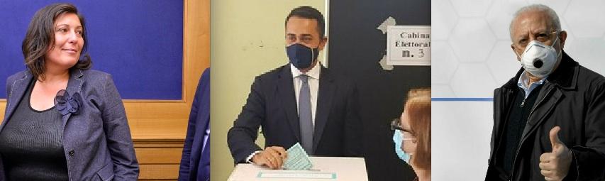 I big alle urne: Di Maio e Ciarambino al voto a Pomigliano, De Luca a Procida e De Magistris nel quartiere Vomero