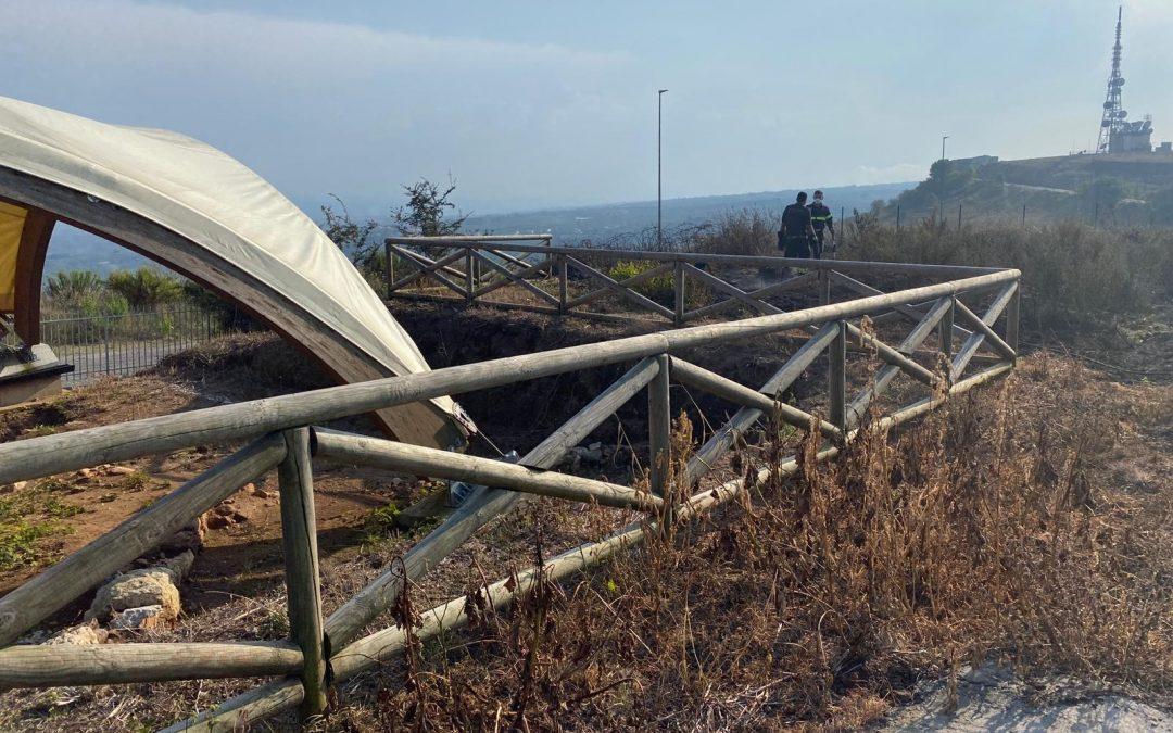 Il Parco del Cofino dopo l'ultimo incendio