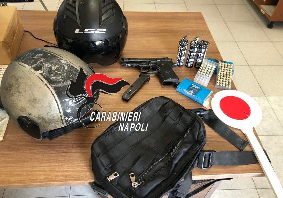 Giugliano in Campania: carabinieri inseguono due rapinatori che avevano sottratto l'incasso ad un ristoratore