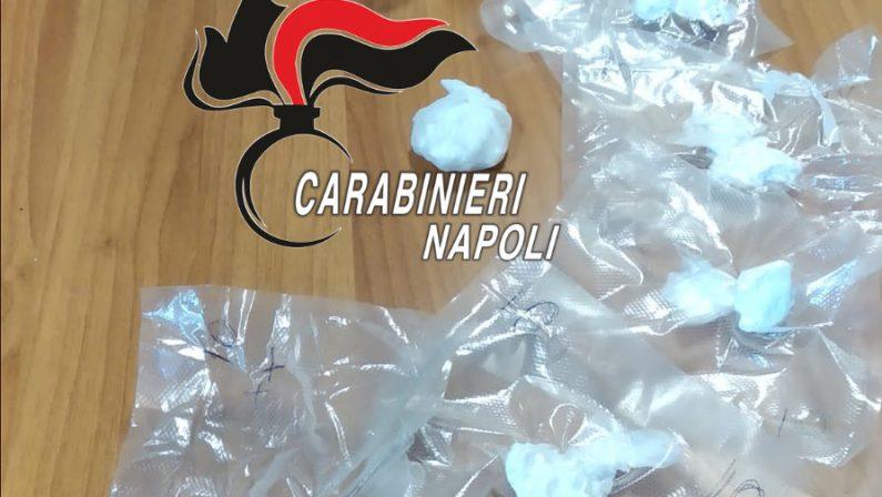 Napoli, Rione Traiano: Servizi anti-droga dei Carabinieri. Arrestato pusher 44enne, nascondeva 76 grammi di cocaina