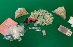 Castellammare di Stabia: droga in un pilastro scovata grazie ai cani antidroga. 3 persone arrestate