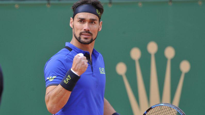 """Tennis: Fognini positivo al coronavirus, niente """"Sardegna Open"""""""