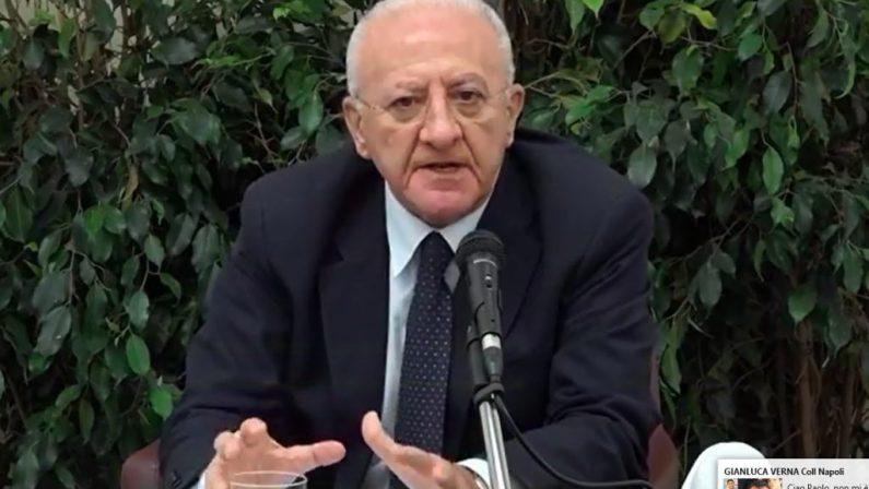 """Covid, De Luca: """"da oggi misure di guerra per salvare la vita dei nostri concittadini"""""""
