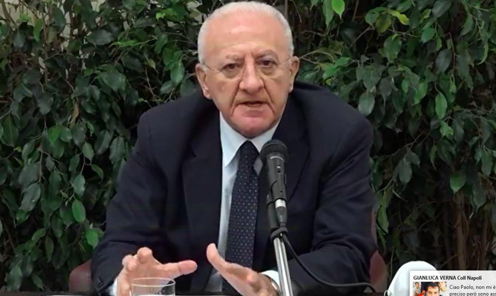 Vincenzo De Luca, presidente della Regione Campania