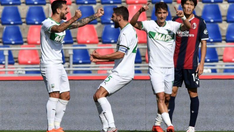 Serie A, rimonta Sassuolo, 4-3 a Bologna e secondo posto