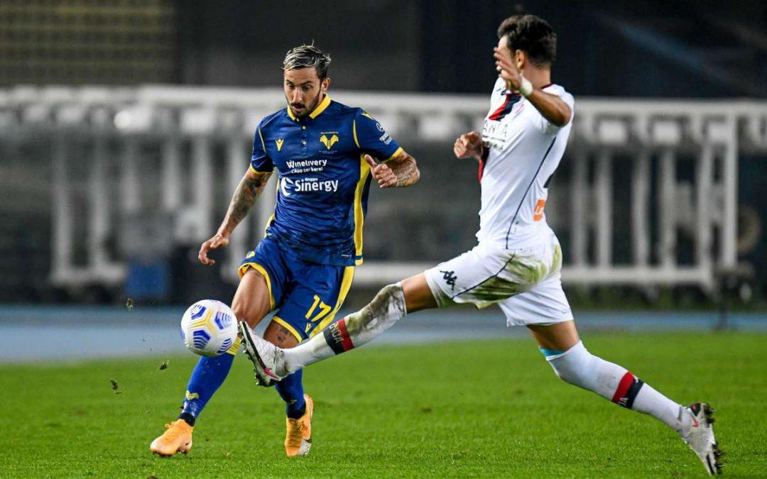 Finisce senza gol il posticipo fra Verona e Genoa