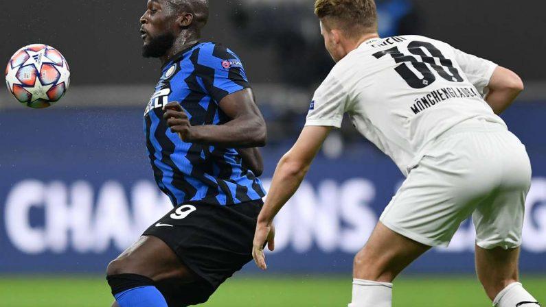 Lukaku non basta, pari dell'Inter contro il Moenchengladbach