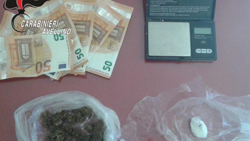 Sorpreso in possesso di cocaina e marijuana, trentenne arrestato ai Carabinieri di Solofra