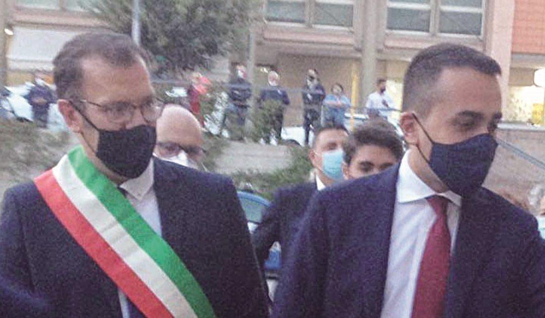 Il sindaco Bennardi e il ministro Di Maio a Matera
