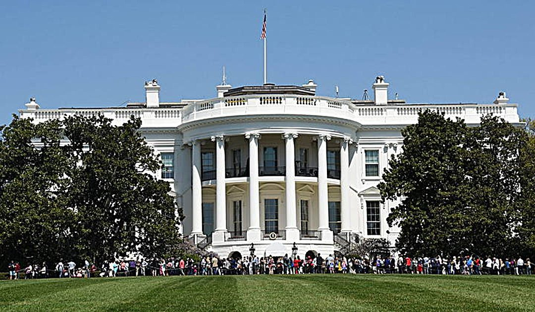 La Casa Bianca a Washington residenza del presidente degli Stati Uniti d'America
