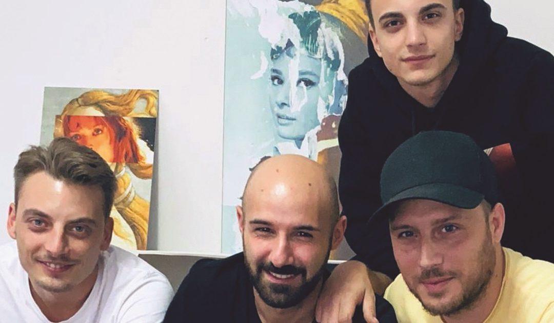 Domenico Mazzotta (primo da destra) e i suoi collaboratori
