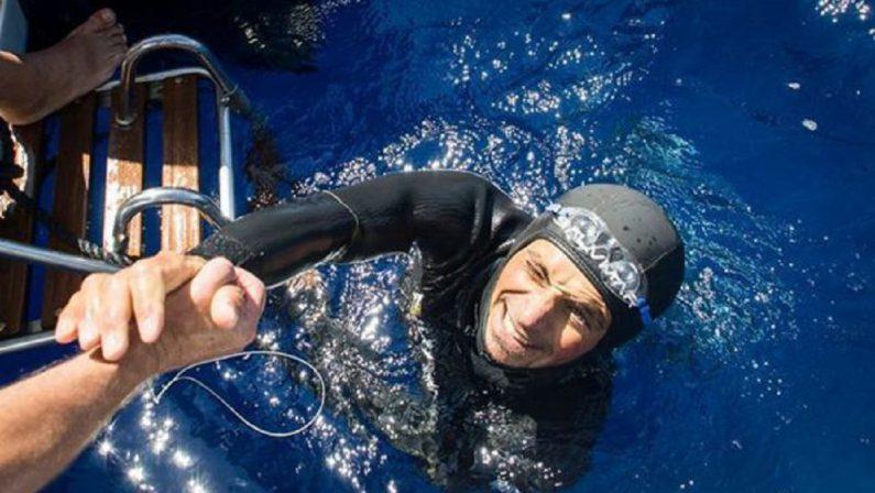 Leuci campione del mondo di apnea nelle acque di Soverato, i complimenti della Santelli