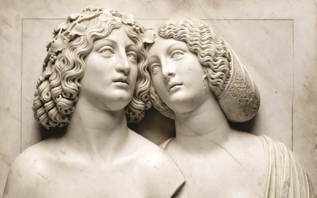 """L'immagine che accompagna la presentazione della mostra """"Le Corps et l'Âme De Donatello à Michel-Ange. Sculptures italiennes de la Renaissance""""  al museo Louvre di Parigi:"""