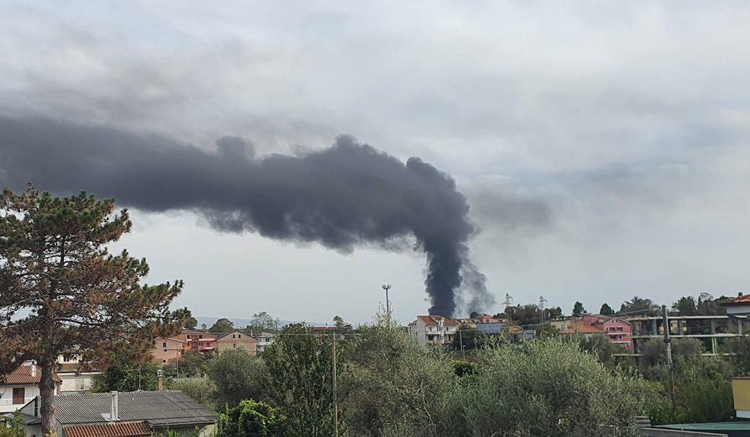 Vasto incendio a San Gregorio nel Vibonese, in fiamme centro raccolta rifiuti