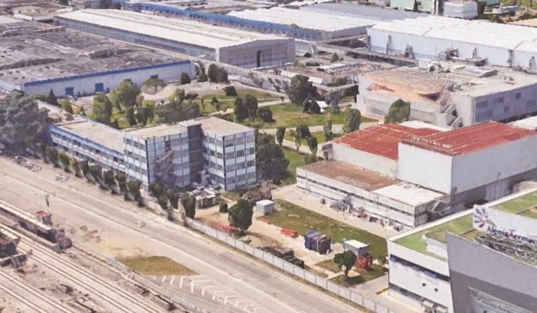 Pomigliano d'Arco, l'area industriale con lo stabilimento Leonardo spa