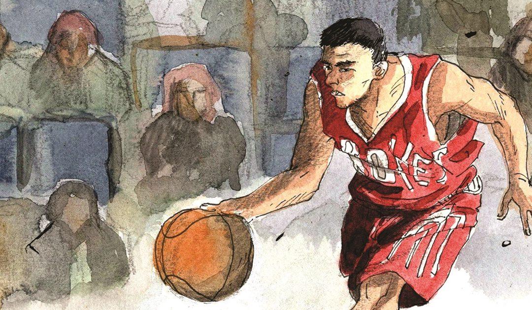 Yao Ming in una llustrazione di Roberto Melis