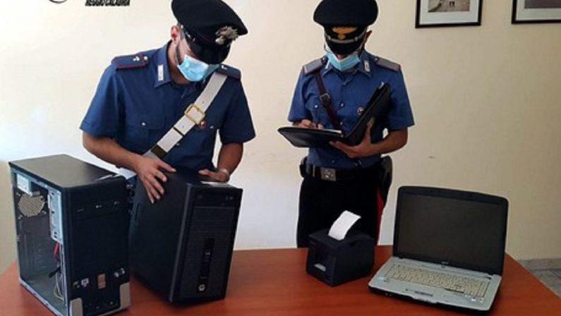 Centro scommesse clandestino nel Reggino, due denunce