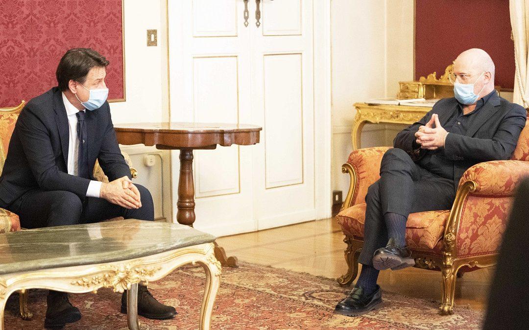 Giuseppe Conte e Stefano Bonaccini